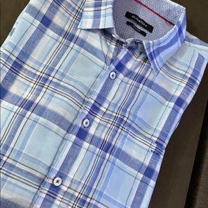 BUGATCHI Casual Linen Shirt. Size Large